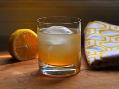 This drink blends bourbon, lemon juice, and honey syrup for a whiskey-laced spin on the Bee's Knees.