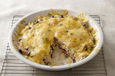 Try a Santa Fe Chicken Casserole, layered with bold flavor. Shredded chicken, black beans, tortillas & cheese are great in our Santa Fe Chicken Casserole! Kraft Foods, Kraft Recipes, Kraft Chicken Recipes, Mexican Dishes, Mexican Food Recipes, Turkey Recipes, Mexican Meals, Mexican Cooking, Santa Fe Chicken