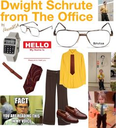 """""""Dwight Schrute Costume"""" by iloveglasses on Polyvore"""