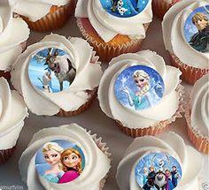 30 x Disney Die Eiskönigin Elsa Anna oalf Essbares Reispapier zur Dekoration von Cupcakes 3,8 cm froßes Bild