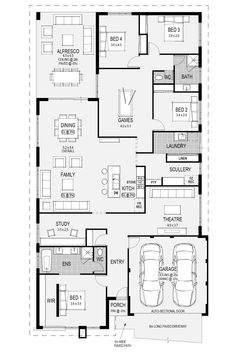 Denah Rumah 704320829200529600 - 12 Pines seleccionados para ti Source by Dream House Plans, Modern House Plans, House Floor Plans, My Dream Home, The Plan, How To Plan, Plan Plan, Layouts Casa, House Layouts