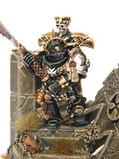 Pure beauty :D Figurine Warhammer, Warhammer 40k Figures, Warhammer Paint, Warhammer Models, Warhammer 40k Miniatures, Black Templars, Eternal Crusade, Warhammer 40k Space Wolves, Sci Fi Miniatures