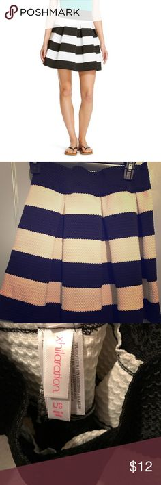Striped skirt Gorgeous black and white striped skirt. Like new. Used once. Xhilaration Skirts Mini