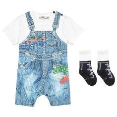 333c1d5623c3 Junior Gaultier Baby Boys Romper Gift Set