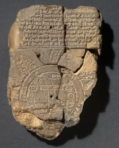 Map of the world – 600 BCE This artifact was discovered in Iraq close to the Euphrates river in the late 1800s and first published (or written about) in 1899. It has been dated to around 600 BCE. This was the oldest known map for several decades until the Nippur map (see above) was finally published. The Babylonian Map is currently in the British Museum.