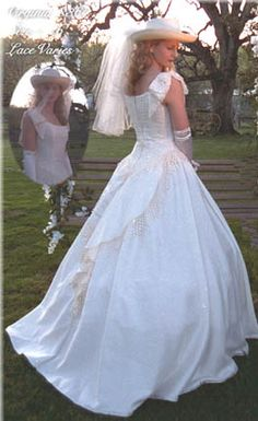 Wedding ideas on pinterest western wedding dresses for Western vintage wedding dresses