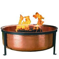 CobraCo Feuerschalle Handgehämmerte Feuerwanne aus 100% Kupfer Woodstream