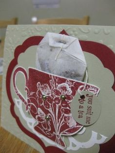 Tea party invite - I have this stamp