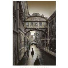 Venice, Italy (Ponte dei Sospiri, Bridge of Sighs) Art Poster Print $6.99