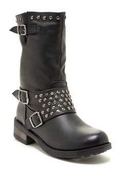 Bucco Mirelle Buckle & Stud Boot on HauteLook mandare a hacer unas asi para rockear