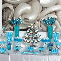 blue candy buffet theres so much i love about candy tables or candy