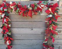 6' Christmas Garland- Winter Garland- Christmas Swag- Winter Swag- Christmas Fabric Garland- Winter Fabric Garland- Rag Garland- Fabric Swag