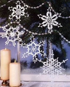 Holiday Snowflakes Lace Crochet Ornament Pattern (ePattern Download)