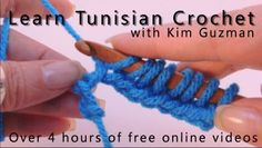 Tunisian Crochet: It's Time to Learn! | WIPs 'N Chains: Over four hours of free online video instruction, right- and left-handed