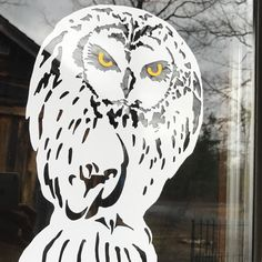 Gnarly, scary short-eared owl designed to deter small birds from going anywhere near that terrifying, large predator!   Should be effective, and not continue to have small birds running into your window!