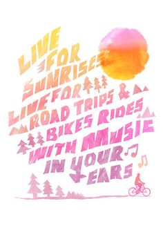 LIVE FOR music riding road trips typography by yeohghstudio
