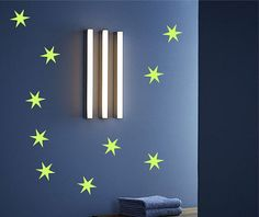 Glow in the Dark Star Vinyl Decal Mural Kit by TheVinylStickerShop