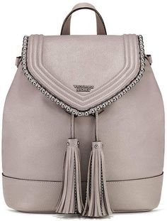 Victoria's Secret Victorias Secret Ball Stud Flap Backpack - May 18 2019 at Chic Backpack, Little Backpacks, Victoria Secret Bags, Italian Fashion, Fashion Outfits, Womens Fashion, Travel Size Products, Fitness Fashion, Bag Accessories