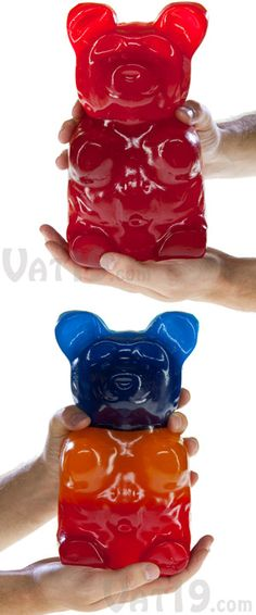 """The worlds largest gummy bear is hand made in the US and can actually be purchased online, but make sure you love gummy bears before buying this one. Weighing in at 5 pounds, it contains 6120 calories and is equivalent to 1,400 regular sized gummy bears!    Described as the """"lion of the candy world,"""" it costs thirty dollars and can be bought in a variety of flavors from blue raspberry to green apple.    www.omg-fa..."""