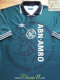 Relive Ajax s 1995 1996 season with this vintage Umbro away football shirt.  Soccer Jerseys 05a7f878f