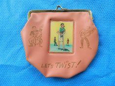 "1950's Pink Purse ""Lets Twist"" Variview"
