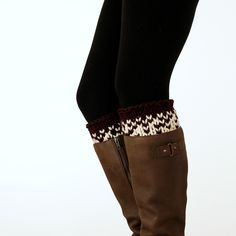 SPONTANEITY : Boot Cuff Knitting Pattern – Brome Fields