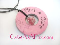 Cute As a Fox: Breast Cancer Awareness Washer Necklaces
