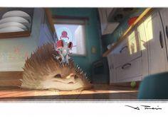 JELLY X hedgehog, X TRAIN on ArtStation at https://www.artstation.com/artwork/bD8Xo