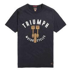 Triumph Piston T Shirt - Black Triumph Motorcycle Clothing, Motorcycle Outfit, Triumph Motorcycles, Rags Clothing, Clothes, Motorcycle Patches, Casual T Shirts, Funny Tshirts, Biker Jackets