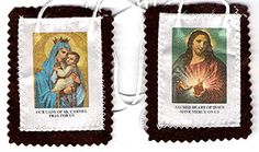 The OLO Mt. Carmel Scapular is one of the magnificent religious gifts for Catholics of all ages. Mt. Carmel, being the most holy of all mountains, is a vital place in the history of the Catholic faith. It often appears in religious pictures. Wearing our OLO Mt. Carmel Scapular close to your heart reminds you not only of its historic value but also of your devotion to Christ.  This scapular carries the image of Mother Mary and baby Jesus on one piece and the Sacred Heart of Jes…