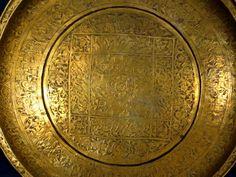 17th C. Persian Safavid Brass Magic Bowl