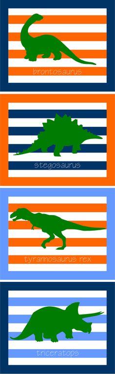 dinosaur prints - little boy's room