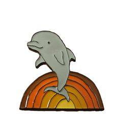 Soft Enamel Dolphin Pin  Colorful Dolphin Pin  by marmarsuperstar