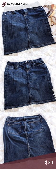 GAP 1969 Blue Jean Skirt. GAP 1969 Jean Skirt.  See pictures for material and measurements. GAP Skirts Mini