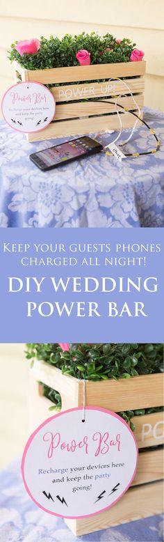 DIY Wedding Charging Station