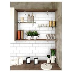 Craving the subway tile look for your home? Try an easy DIY with Devine Color Peel & Stick Wallpaper in Textured Subway Tile - available at Target. #impressyourself #wallpaper #subwaytile