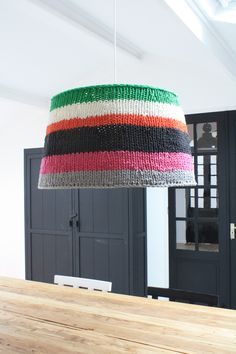 huge knitted lamp @HKliving Interiors Interiors Interiors Interiors   ECKMANN STUDIO COM