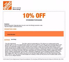 1 Real Home Depot 10 Off Coupon Expires 7 12 2016 222136558134 Gift Cards Coupons For 00