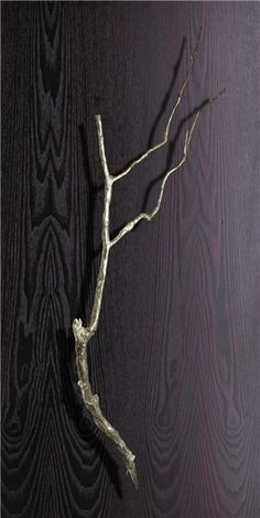 branch door handle - Philip Watts Design - YEP, that will go well on my front door