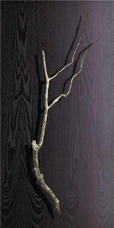 branch door handle - Philip Watts Design - YEP, that will go well on my front door