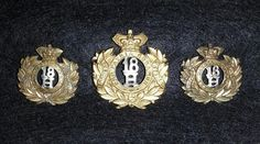 18th Hussars Victorian cap and collar badges