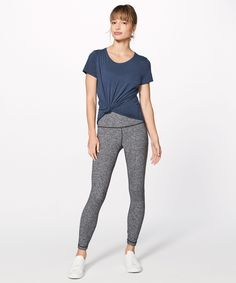 Love Crew III at Lululemon - love this in mineral blue or black as everyday workout wear.