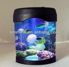 2013 Fish Tank For Sales With Usb And 5 Colour Changing Led Light Mood Jelly…