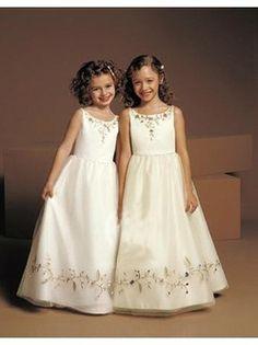 A-line Organza Floor-length Sleeveless Flower Girl Dresses