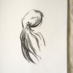 I've started using a bit of charcoal again lately. It's helping me to loosen up a bit with my art. I'm a huge fan of how this octopus turned out.