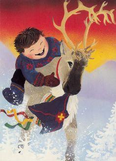 My collection. Kaarina Toivanen - Юлия К - Picasa Web Albums Winter Illustration, Christmas Illustration, Illustration Art, Nordic Christmas, Christmas Images, Christmas Cards, Merry Christmas, Xmas, Funny Drawings