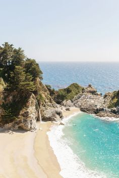 🌴🌴 McWay Falls Big Sur photo | California Travel Locations.. Great Beach! Beautiful!! I've been there!! 🌴🌴