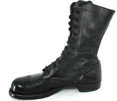 Size 9.5 D Customers First Men's Shoes Original Corcoran Black Leather Field Boots With Vibram Sole Surplus