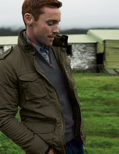 Perfect fall jacket from Boden, classic British outerwear // freckles, handsome ginger, redhead, military inspired