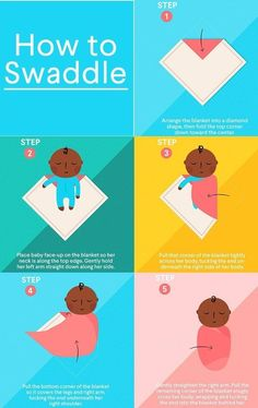 The easiest way to swaddle a baby is to find a ready-made Velcro or zipper swaddle, in which you simply can tuck in your newborn or infant. But you can also swaddle baby using any large, thin, soft blanket.